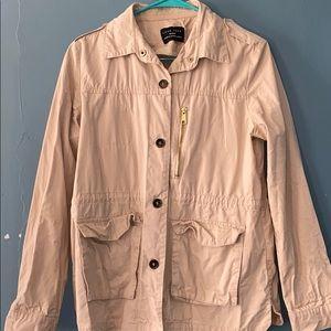 Blush pink jean jacket